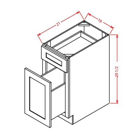 CW-DFB18 - Drawer File Base - 18 inch