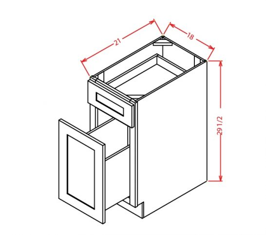 TD-DFB18 - Drawer File Base - 18 inch