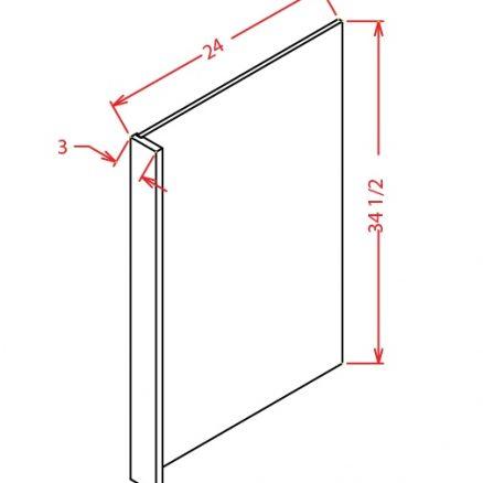 TW-DWR3 - Panel-Dishwasher Return - 3 inch