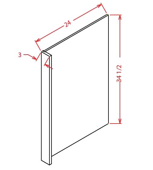 SW-DWR3 - Panel-Dishwasher Return - 3 inch