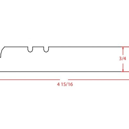 SE-FBM - Molding-Furniture Base Molding - 96 inch