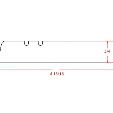 YC-FBM - Molding-Furniture Base Molding - 96 inch