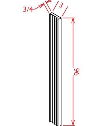 YC-FF396 - Filler-Fluted Filler 3 X 96 - 3 inch