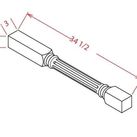 YW-FLDL - FLUTED LEG - 3 inch
