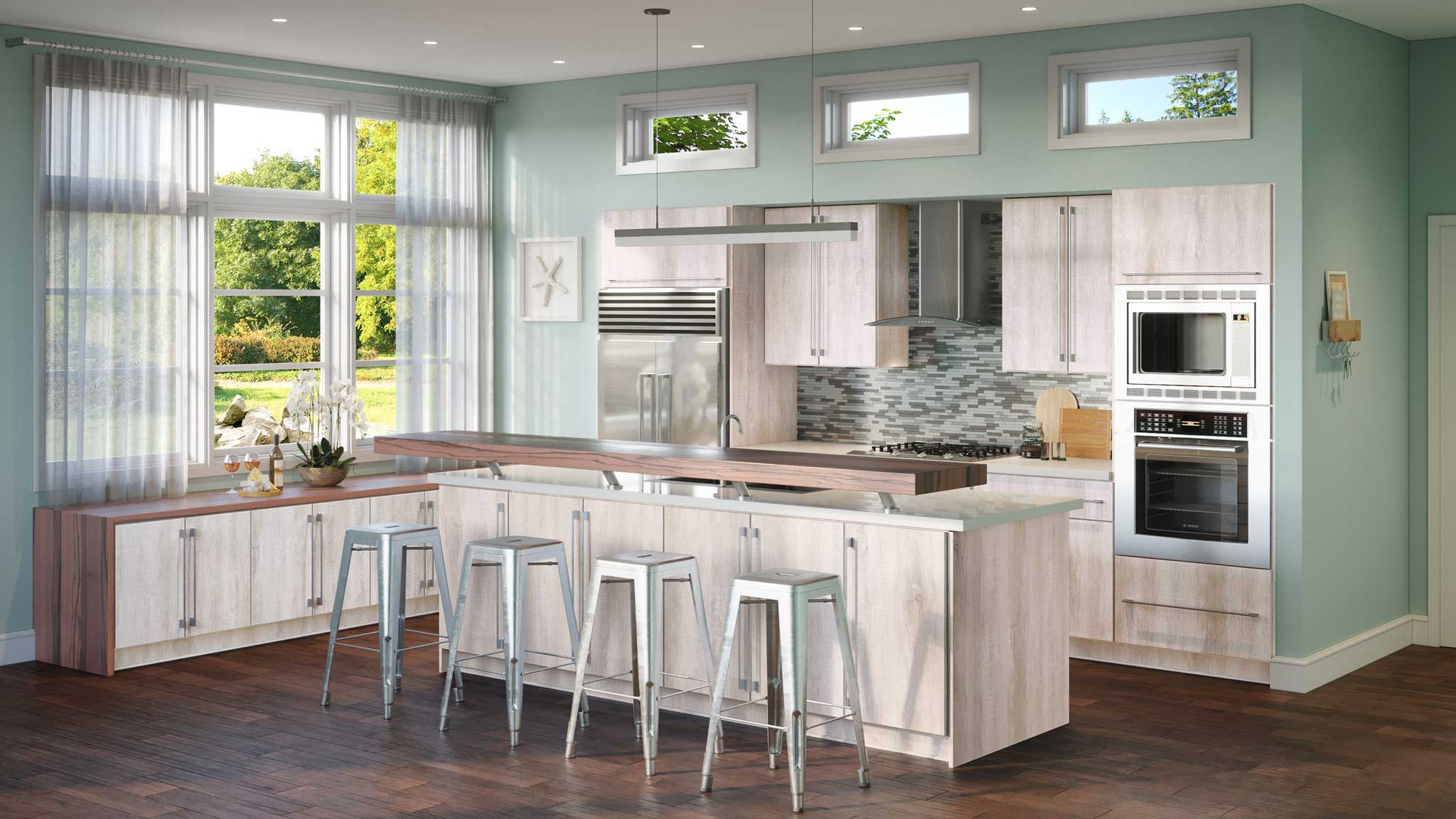 clean your kitchen cabinets