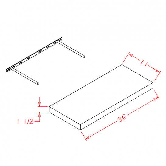 TDW-FS36 - Floating Shelf - 36 inch