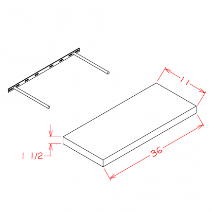 PGW-FS36 - Floating Shelf - 36 inch