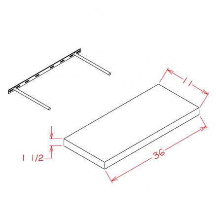 White-FS36 - Floating Shelf