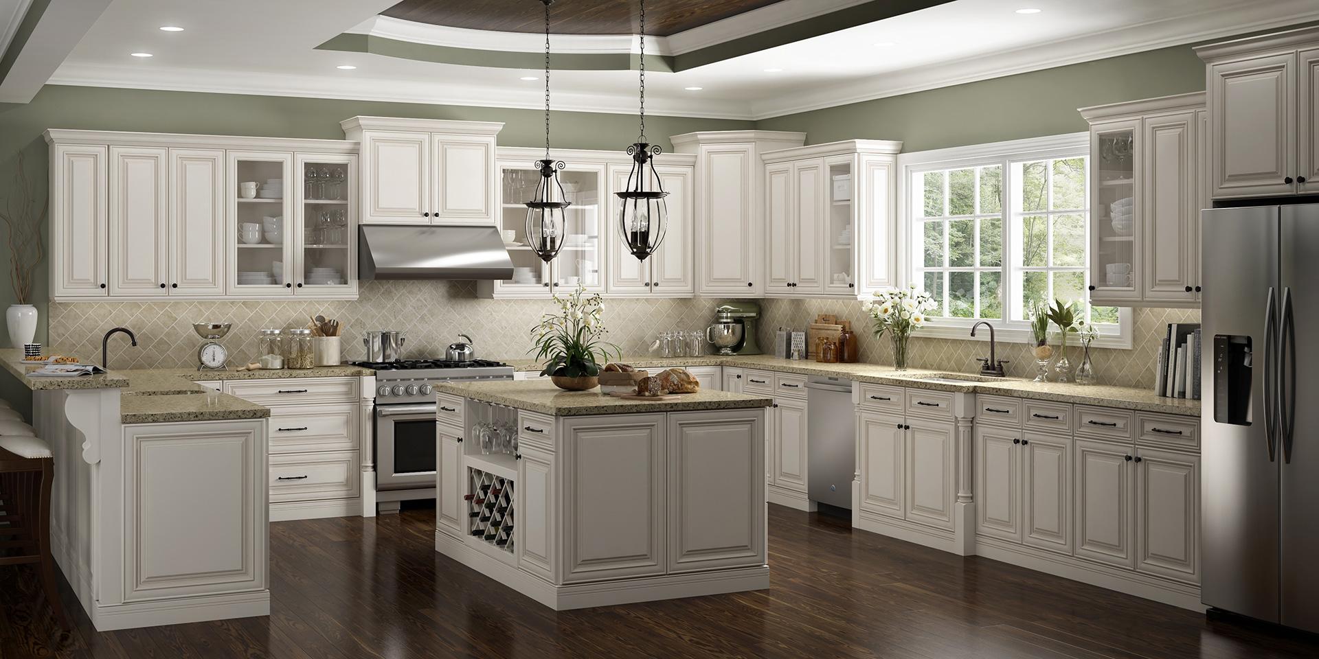 G-style kitchen w/island