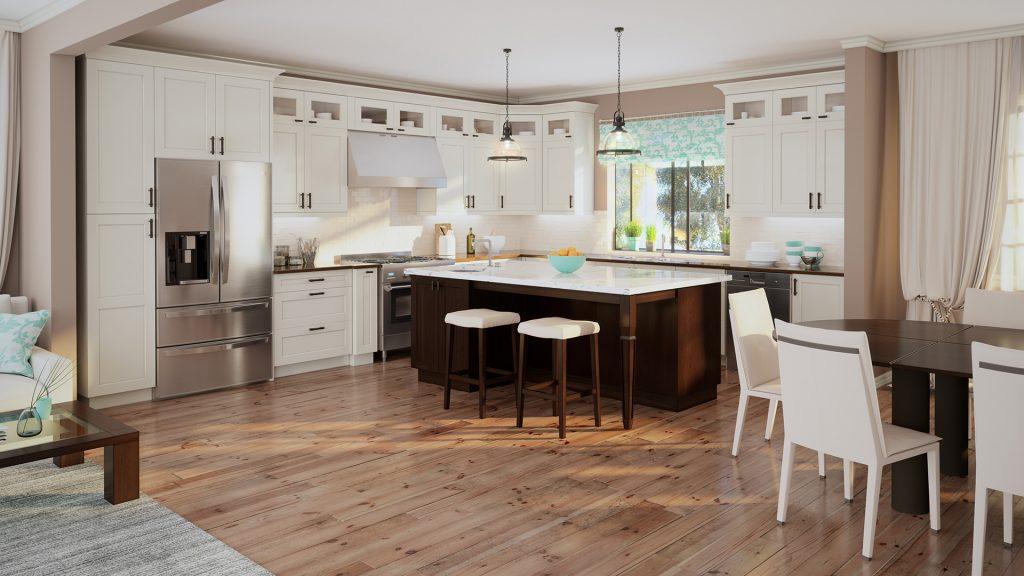 Shaker Antique White kitchen cabinets