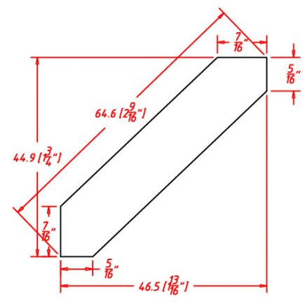 SW-ACM8 - Molding-Angle Crown Molding - 96 inch