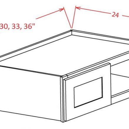 YC-W302424 - Refrigerator Wall Cabinet - 30 inch