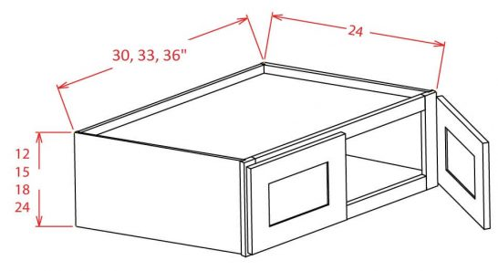 SW-W331824 - Refrigerator Wall Cabinet - 33 inch