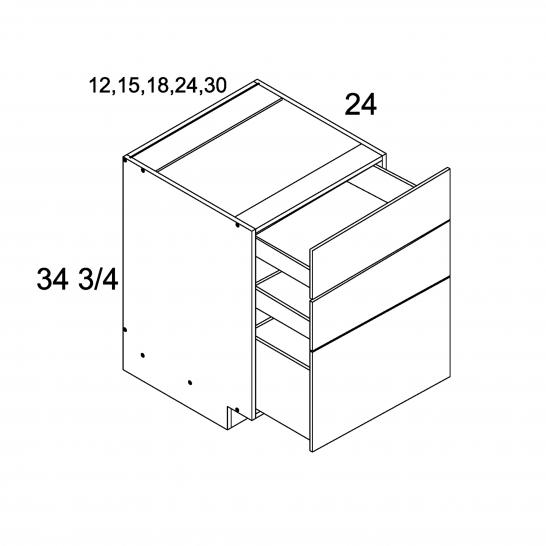MGW-3DB18 - Three Drawer Base- 18 inch