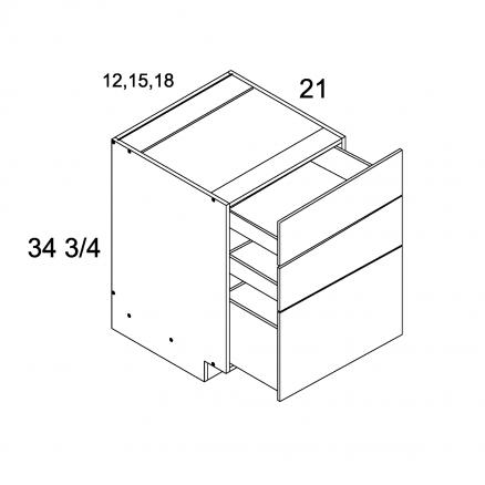 MGW-3VDB12 - Three Drawer Vanity Base- 12 inch