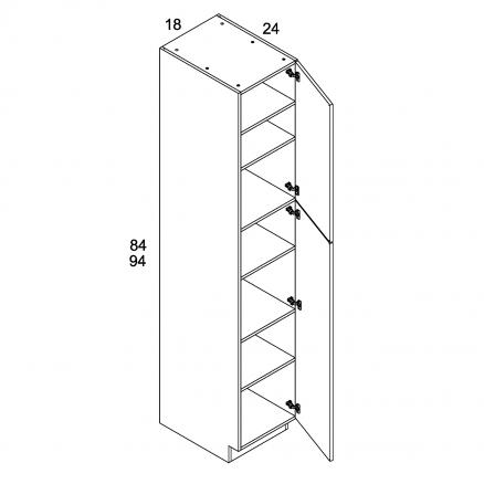 MGW-U188424 - One Door Utility- 18 inch