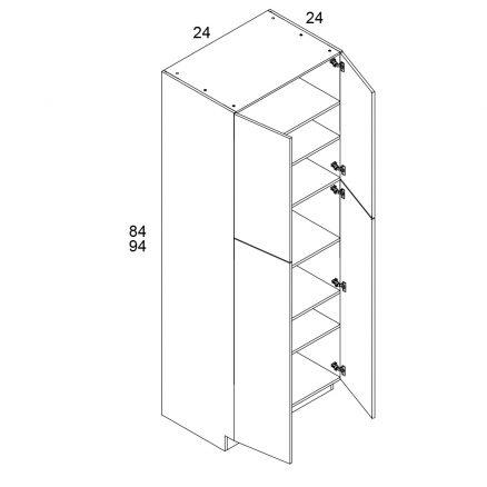 MGW-U248424 - Two Door Utility- 24 inch