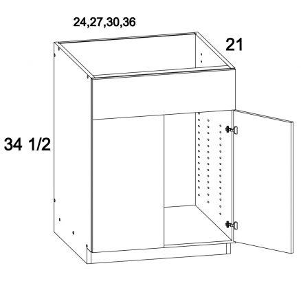 MGW-VS36 - Two Door Vanity Sink Base Cabinet- 36 inch