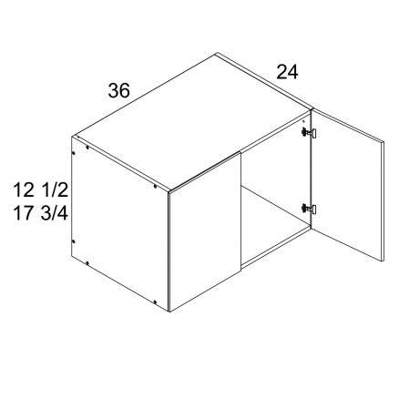 MGW-W361824 - One Door 24'' Deep Wall Cabinet- 36 inch