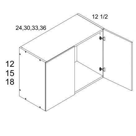 MGW-W3615 - Two Door 12.5'' Deep Wall Cabinet- 36 inch