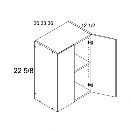 MGW-W3023 - Deep Two Door Wall Cabinet- 30 inch