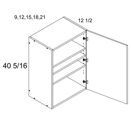 MGW-W1540 - One Door 40.25'' Height Wall Cabinet- 15 inch
