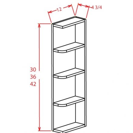 OE636 Wall End Shelf 6 inch by 36 inch Tacoma White