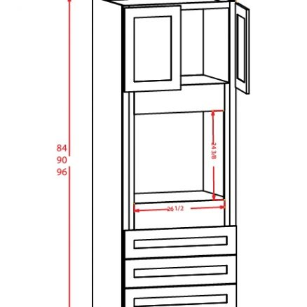 SS-O338424 - Oven Cabinet - 3 inch