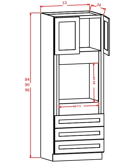 SMW-O338424 - Oven Cabinet - 3 inch
