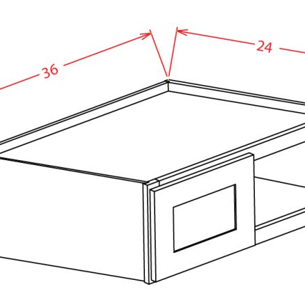 SS-W361224 - Refrigerator Wall Cabinet - 36 inch