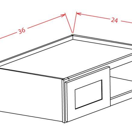 YC-W361224 - Refrigerator Wall Cabinet - 36 inch