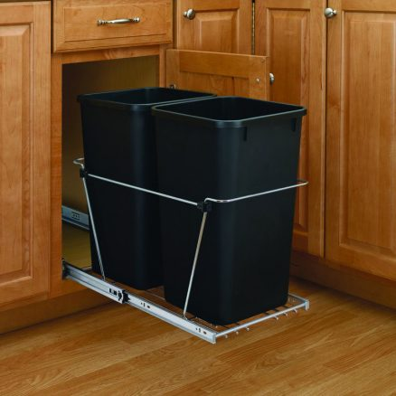 RV-18KD-18C S - Double Bottom Mount Wire Waste Containers