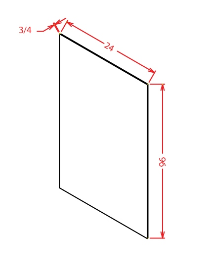 SS-S2496 - Panel-24 X 96 Shelf Material - 24 inch