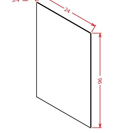 YW-S2496 - Panel-24 X 96 Shelf Material - 24 inch