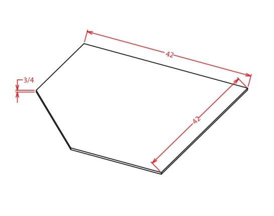 TW-SBF4242 - Sink Base - Diagonal Sink Floor - 42 inch