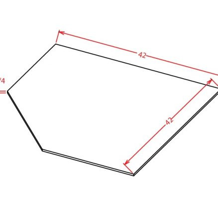 SD-SBF4242 - Sink Base - Diagonal Sink Floor - 42 inch