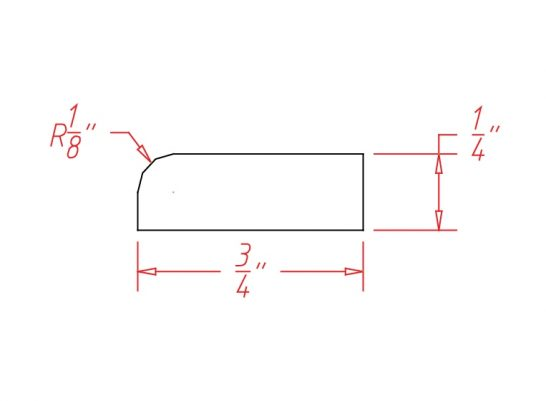 SA-SCR - Molding-Scribe Molding - 96 inch