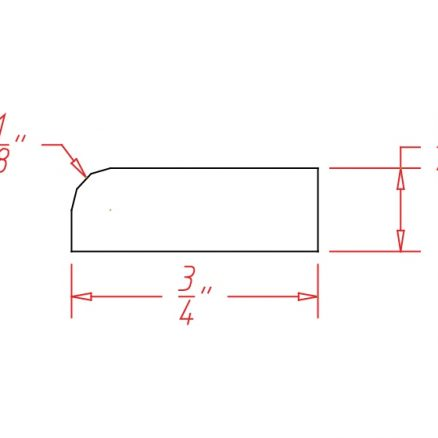 YW-SCR - Molding-Scribe Molding - 96 inch