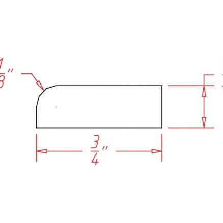 YC-SCR - Molding-Scribe Molding - 96 inch