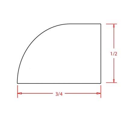 YC-SHM - Molding-Shoe Molding - 96 inch