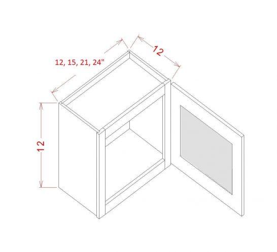 SW-W1812GD - Single Door Stacker Wall Cabinet - 18 inch