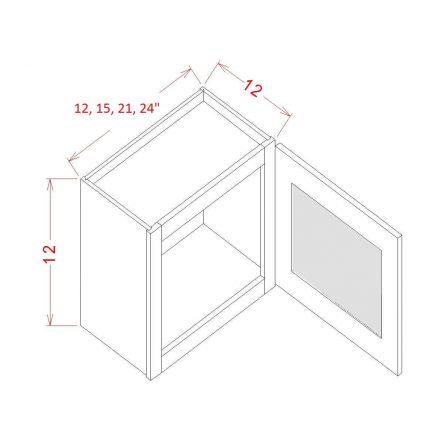 SE-W1812GD - Single Door Stacker Wall Cabinet - 18 inch