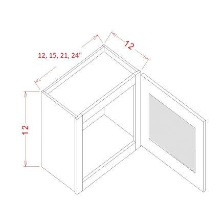 TW-W1512GD - Single Door Stacker Wall Cabinet