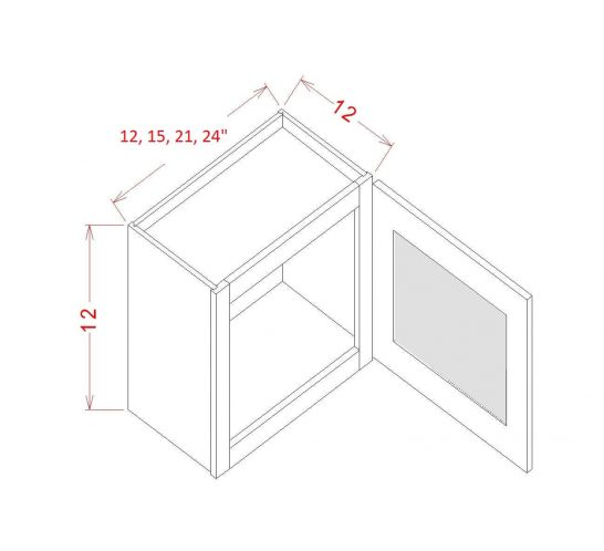 SD-W1812GD - Single Door Stacker Wall Cabinet - 18 inch