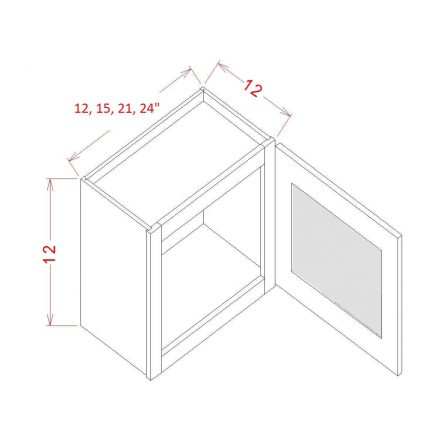 SA-W1212GD - Single Door Stacker Wall Cabinet - 12 inch