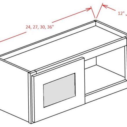 SW-W2712GD - Double Door Stacker Wall Cabinet - 27 inch