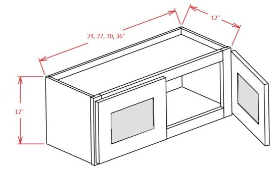 YW-W3312GD - Double Door Stacker Wall Cabinet