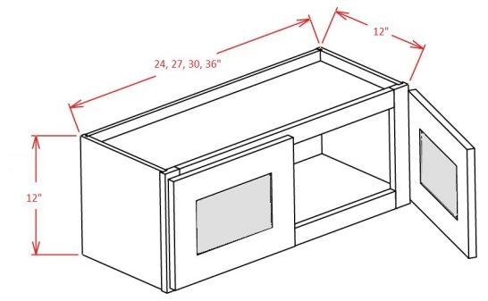 YC-W2412GD - Double Door Stacker Wall Cabinet