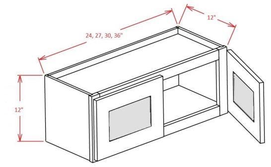 TD-W3012GD - Double Door Stacker Wall Cabinet - 30 inch