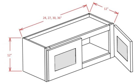 SE-W3012GD - Double Door Stacker Wall Cabinet - 30 inch